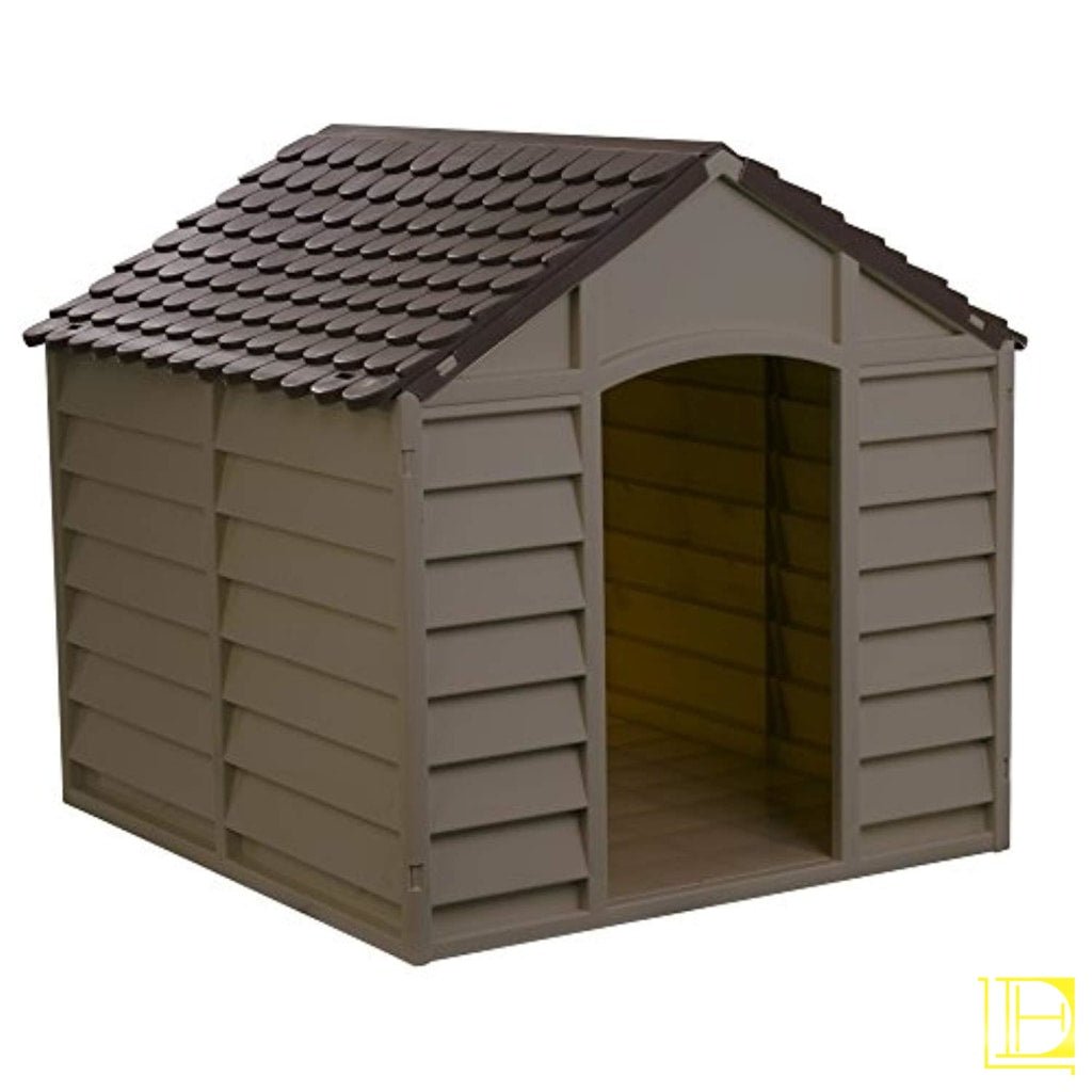 Mocha/brown Outdoor Dog House Kennel (Large)