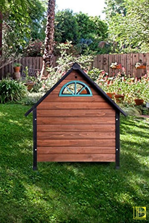 Oak & Black Amador Transitional Dog House