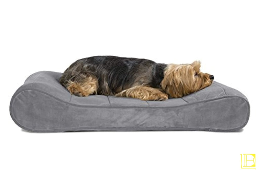 Orthopedic Luxe Lounger Dog Bed (Available In 9 Colors) Chocolate / Small