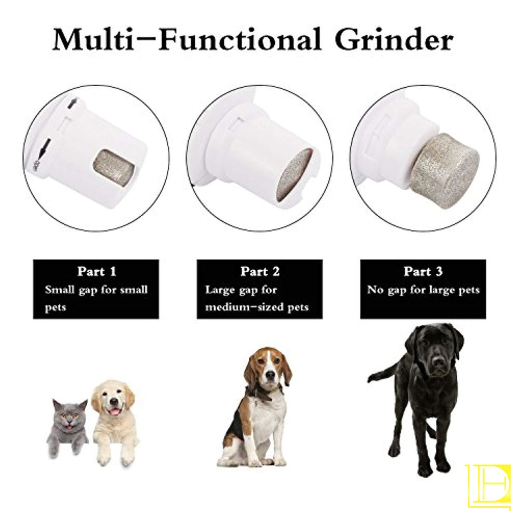 Pecute Dog Nail Grinder Rechargeable Electric Pet Trimmer For Paw Grooming Gentle And Painless