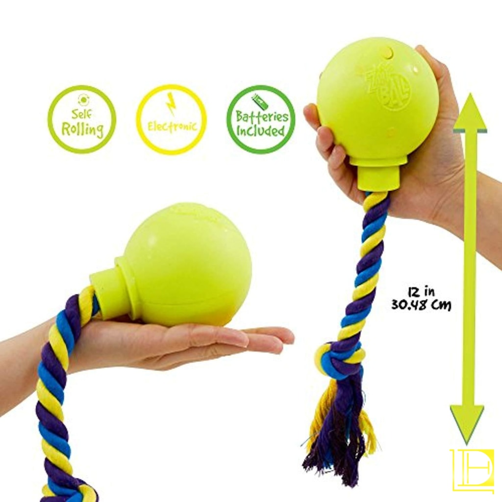 Pet Craft Supply Crazy Ball Rope Twister - Electronic Dog Toy