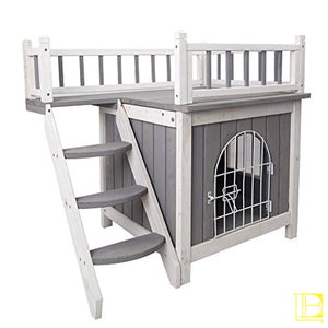 Petsfit Indoor Wooden Dog/pet/cat House With Stairs