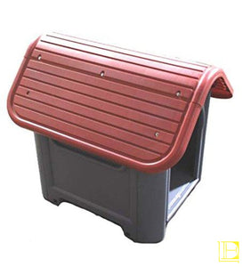 Plastic Dog House - Red 29.13X22.44X25.98 Inch