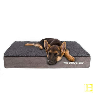 Premium Orthopedic Waterproof Memory Foam Dog Bed Small (28X19X4) / Brown Plush