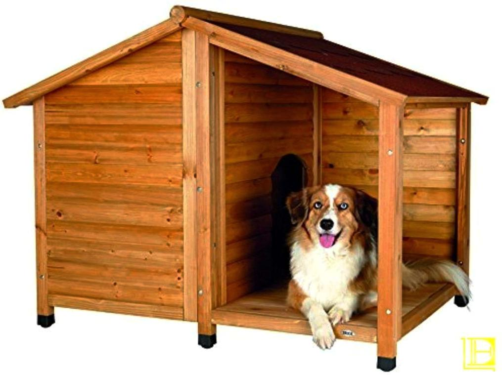 Rustic-Style Outdoor Dog House (Medium)