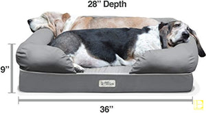 Slate Grey Cozy Memory Foam Dog Bed