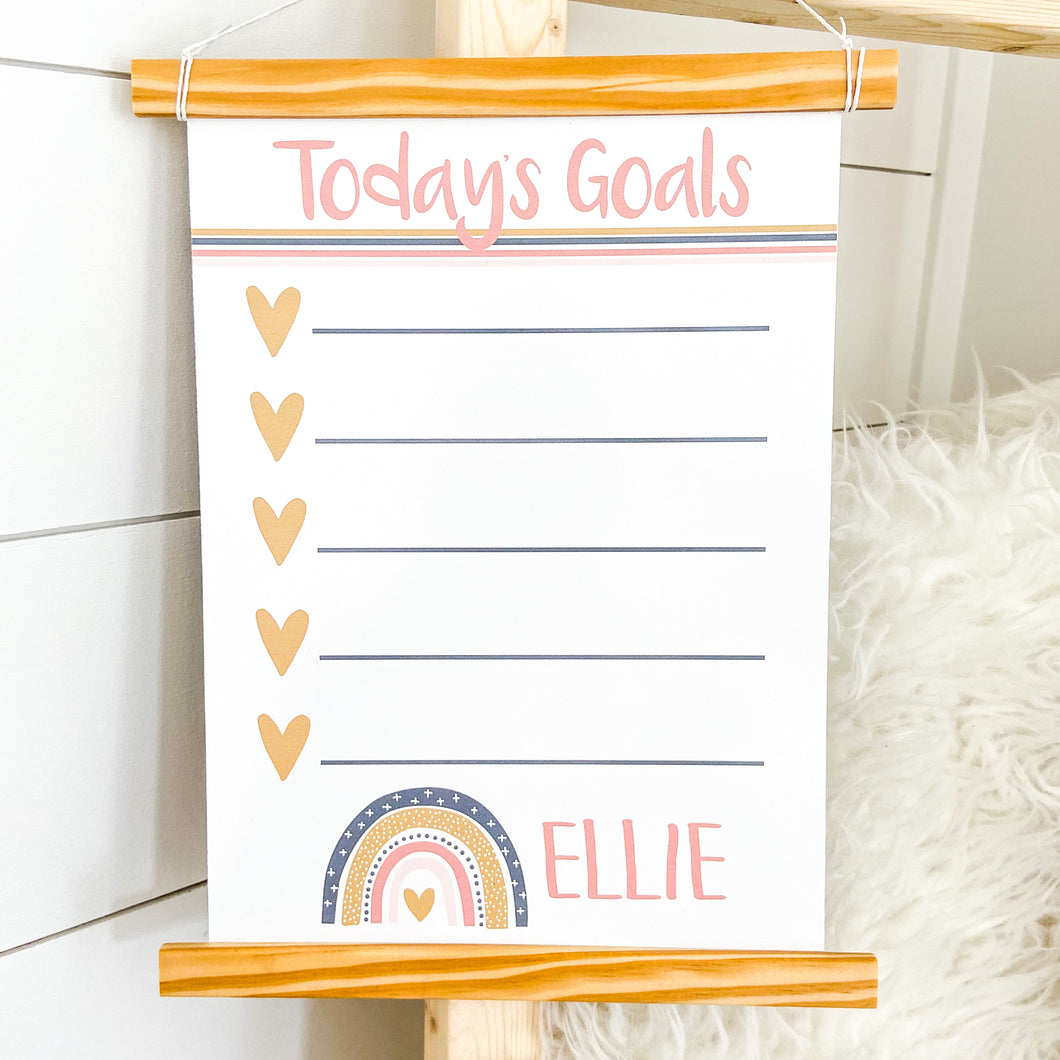 Daily Goals Rainbow Whiteboard Pendant