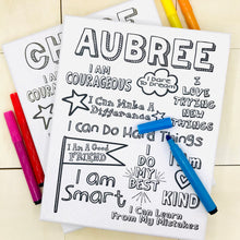 Personalized Affirmation Coloring Canvas