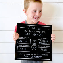 Chalkboard School Picture Set
