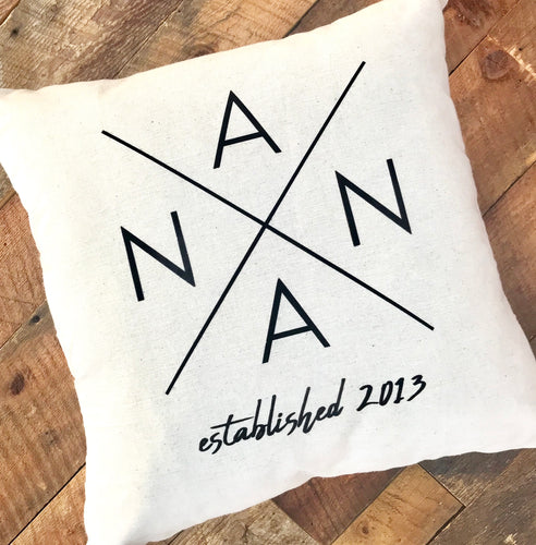 Personalized Nana Pillow