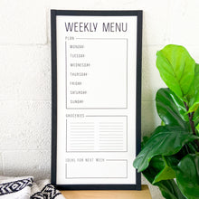 What's for Dinner? Modern Menu Whiteboard (Black Trim)