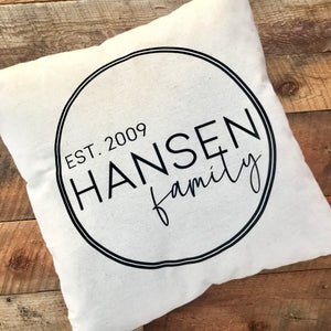 Personalized Large Family Pillow