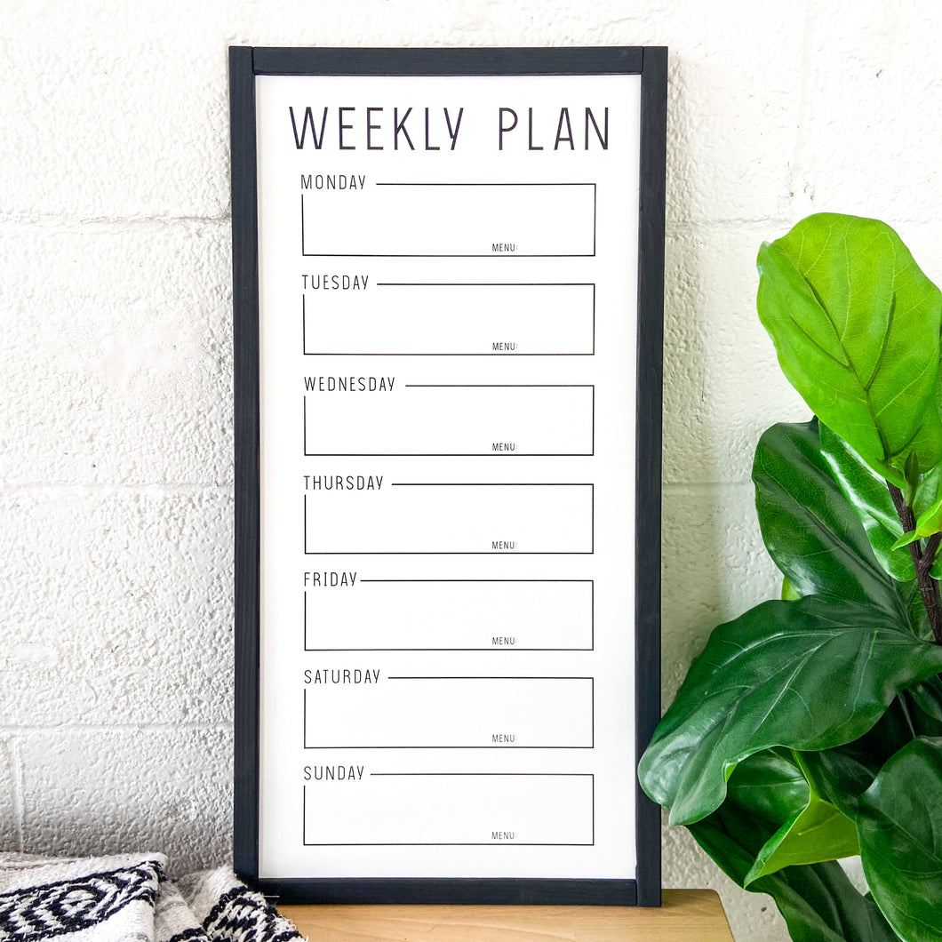 Save The Week Whiteboard (Black Trim)