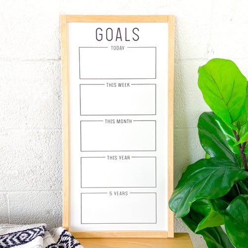 Goal Tracking Whiteboard
