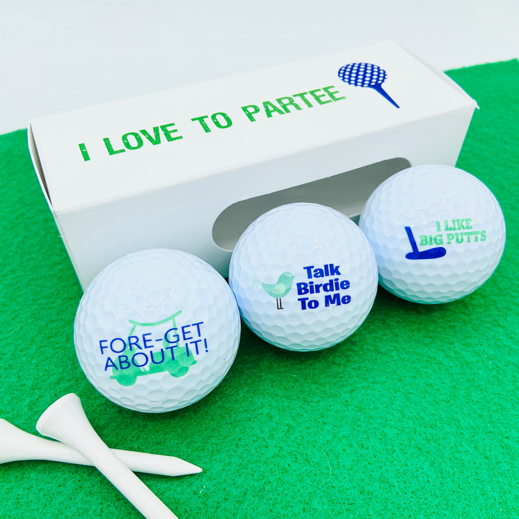 Golf Ball Pun Gift Set