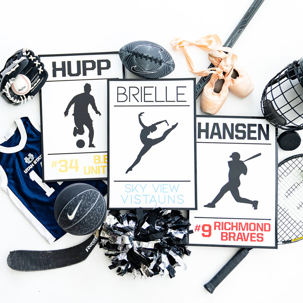 Personalized Athlete Signs