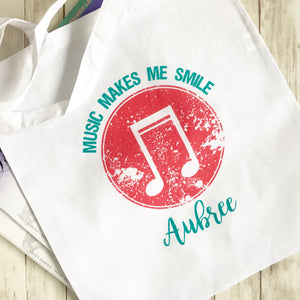 Personalized Smile Music Bag