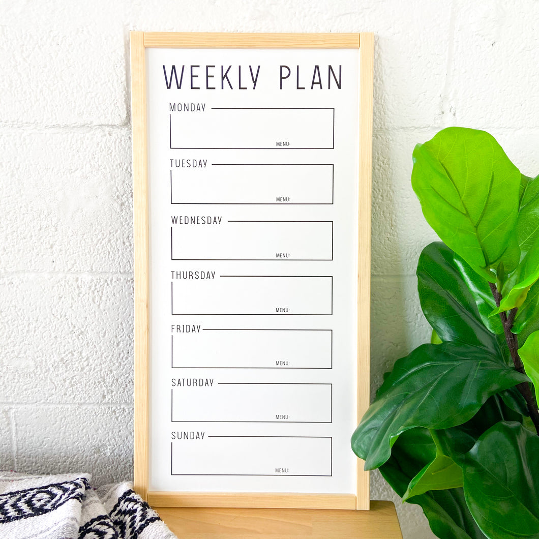 Save The Week Whiteboard (Pine Trim)