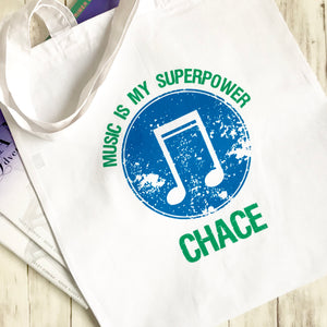 Personalized SuperPower Music Bag