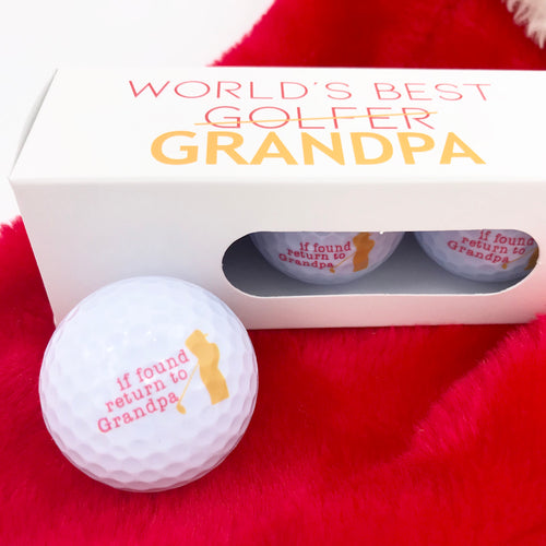 """World's Best Grandpa"" Golf Ball Set"