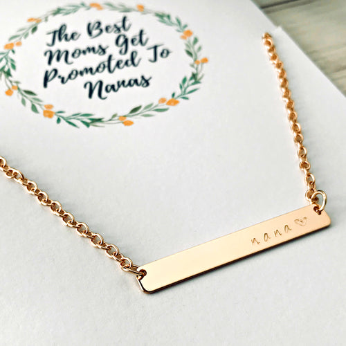 Favorite Nana Bar Necklace