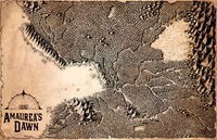 Hand Drawn Amaurea's Dawn Map by Deven Rue
