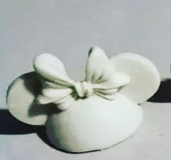 Bow Mouse Straw Topper Mold