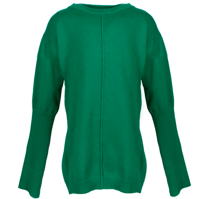 Christmas Green Round Neck Knit Sweater