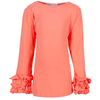 Cotton Rich Ruffle Sleeve Top