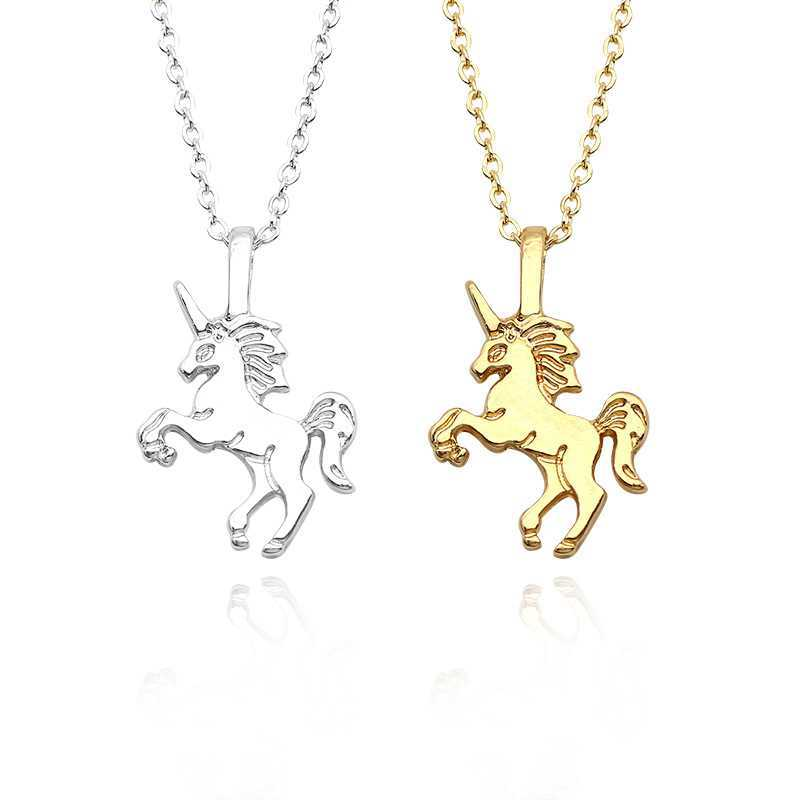 Adkidz Silver plated Unicorn Pendant with Chain