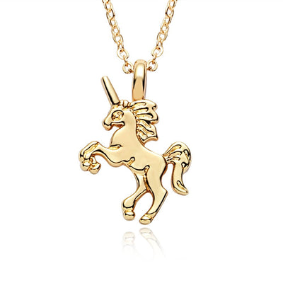 Adkidz Gold plated Unicorn Pendant with Chain