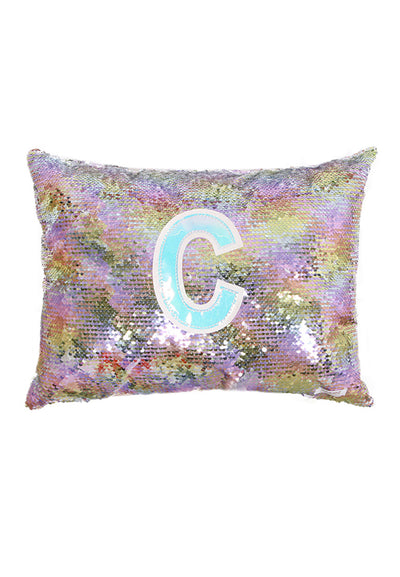 Adkidz Reversible Sequins Cushion with Initial C