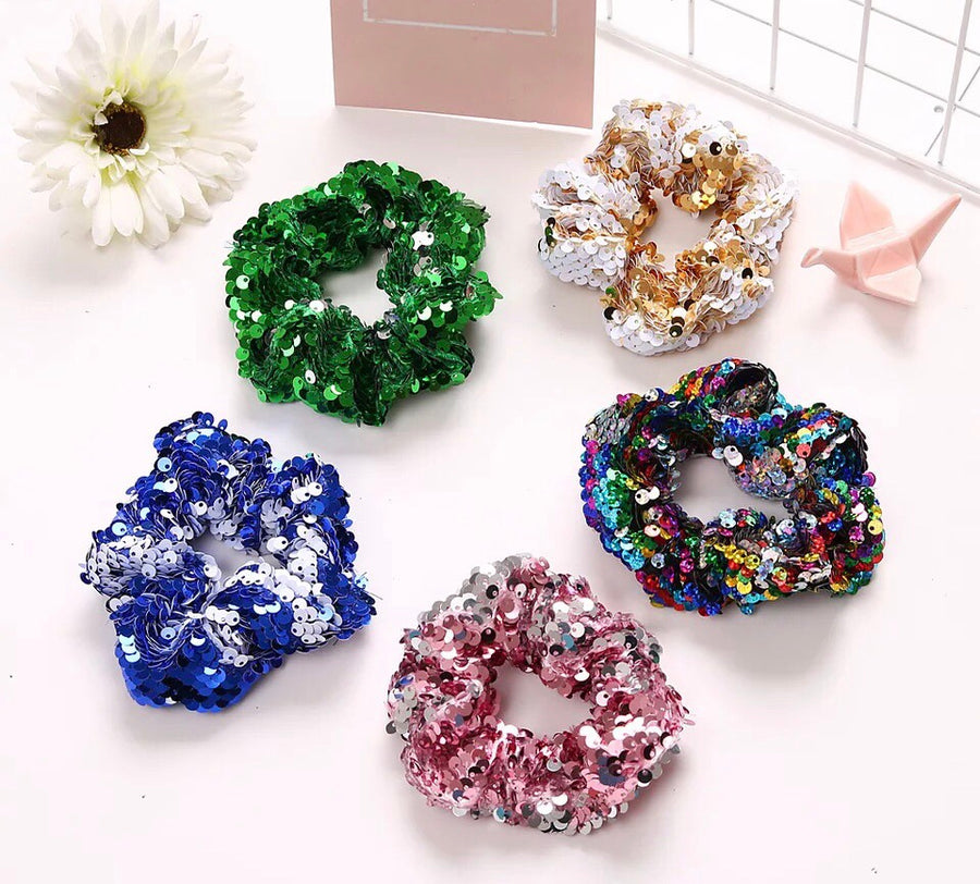ADKIDZ Reversible Sequin Scrunchie