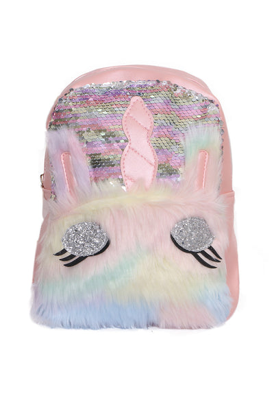 Pink Unicorn Sequins Backpack