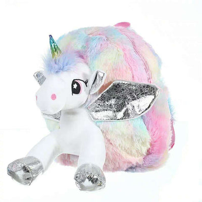ADKIDZ soft and fluffy unicorn  backpack