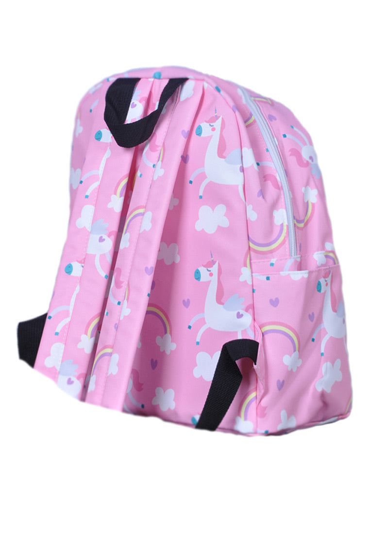Adkidz pink Unicorn printed backpack