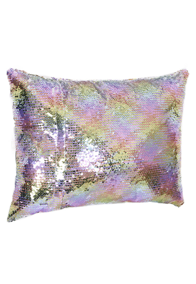 Adkidz Reversible Sequins Cushion with Initial P