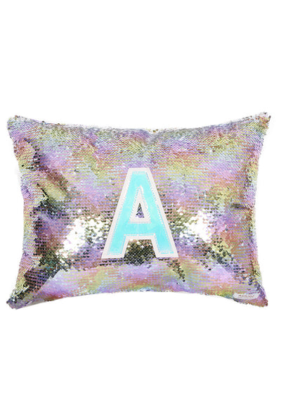 Adkidz Reversible Sequins Cushion with Initial A