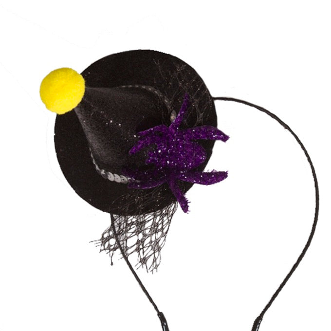 Halloween Witch Hairband with a Spider Motif