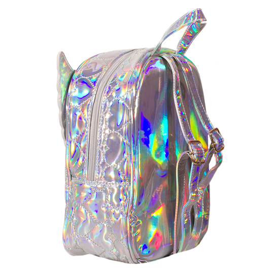 ADKIDZ Holographic Heart Pattern Backpack