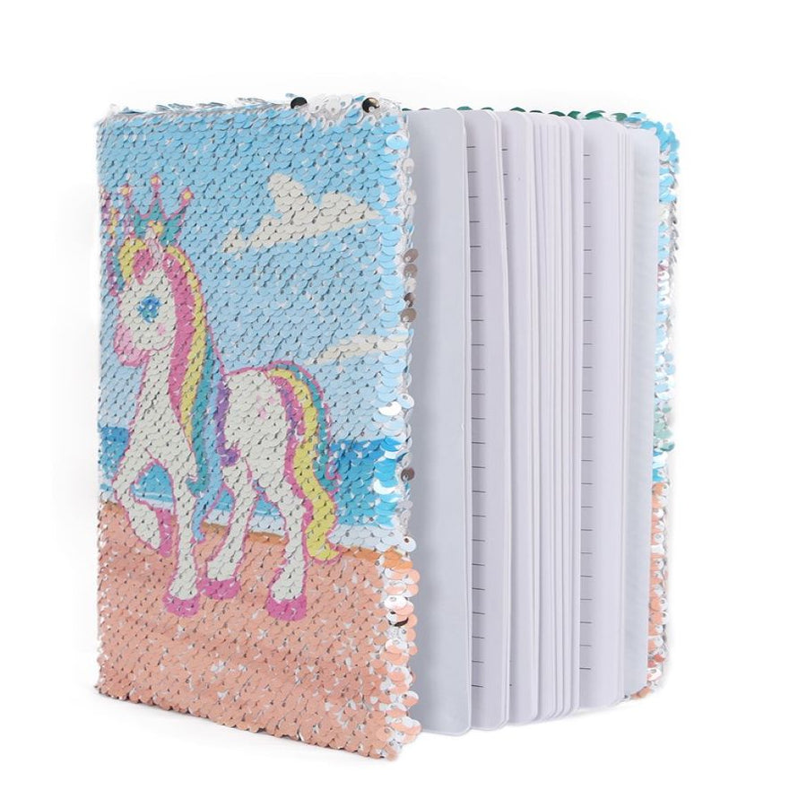 Sequins Unicorn Notebook