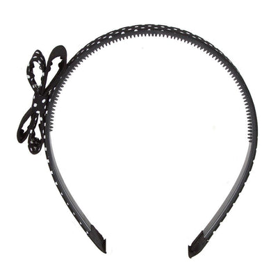 Black Polka Dot Hairband