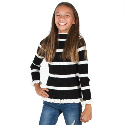 Striped Ribbed Sweater