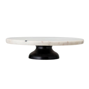 Hollywood White Marble with Black Stripes Cutting Board on Pedestal
