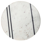 Load image into Gallery viewer, Hollywood White Marble with Black Stripes Cutting Board on Pedestal