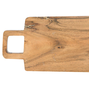 Costa Mesa Rectangle Acacia Wood Cheese Board with Square Handle
