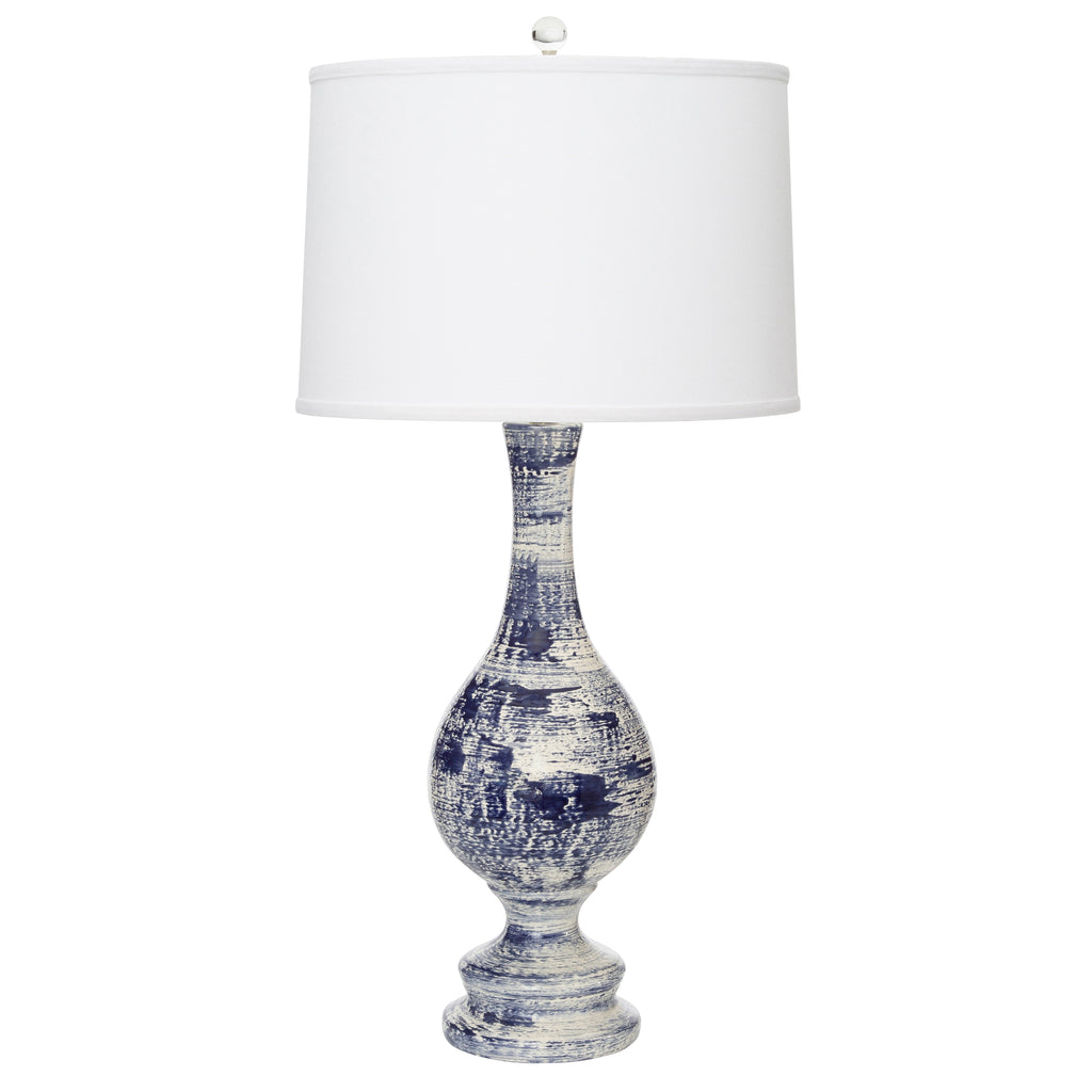 "33""H Trousdale Table Lamp - Navy"