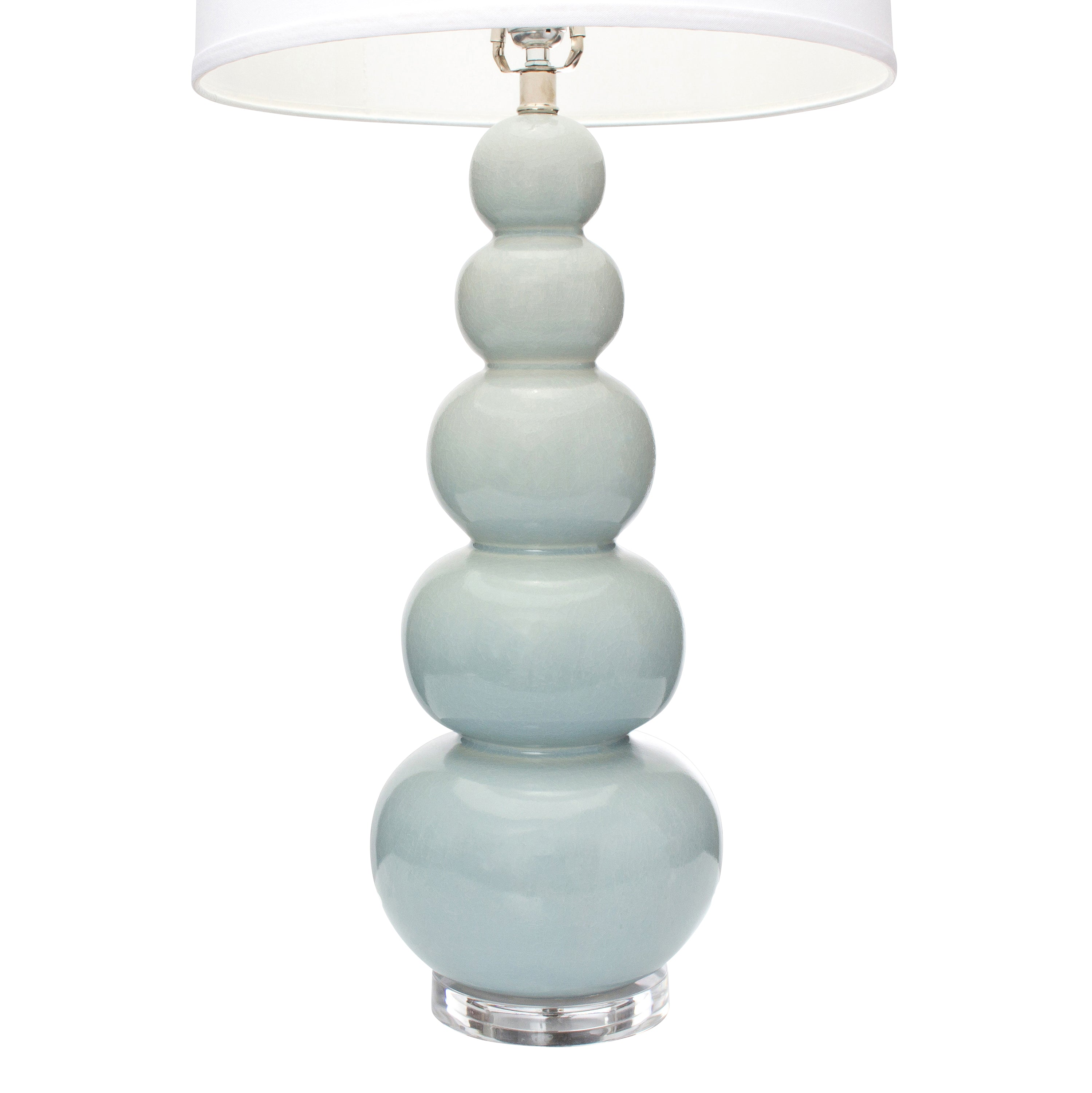 "34""H Brentwood Table Lamp - Pale Blue"