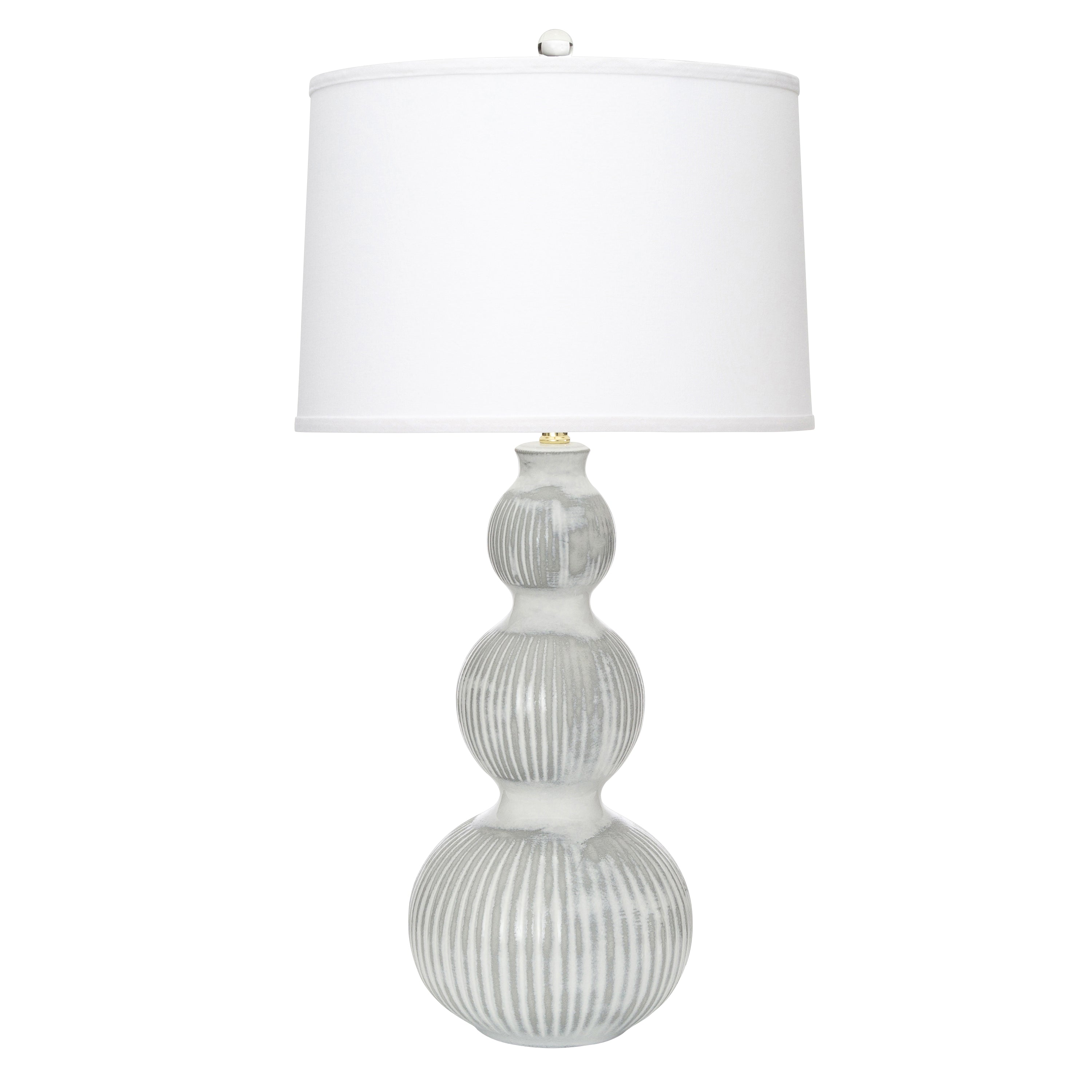 "31""H Venice Table Lamp - White + Grey"