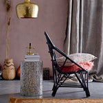 Load image into Gallery viewer, Arcadia Black  + Capiz Shell Side Table